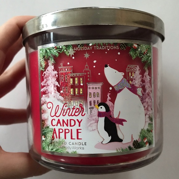Winter Candy Apple Bath & Body Works 3-Wick Candle